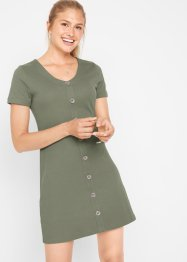 Ripp-Kleid mit Knopfdetail, bpc bonprix collection