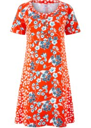 Jerseykleid in Patchwork-Optik, Kurzarm, bpc bonprix collection