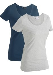 Sport-Longshirt, 2er-Pack, kurzarm, bpc bonprix collection