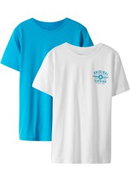 Lot de 2 T-shirts basiques, bpc bonprix collection