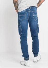 Slim Fit Schlupf-Cargo-Jeans, Straight, RAINBOW