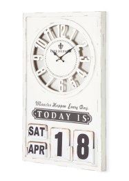 Horloge murale avec calendrier Miracle, bpc living bonprix collection