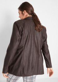 Lederimitat-Longblazer, bpc bonprix collection