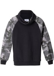 Jungen Sweatshirt mit modischem Kragen, bpc bonprix collection