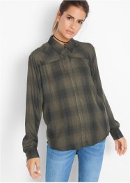 Flanell-Bluse, extralang, John Baner JEANSWEAR