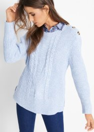 Pullover mit Zopfmuster, John Baner JEANSWEAR