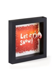 LED Deko-Rahmen Let it snow mit Kugeln, bpc living bonprix collection