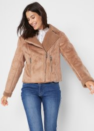Maite Kelly Biker Lammfellimitat-Jacke, bpc bonprix collection