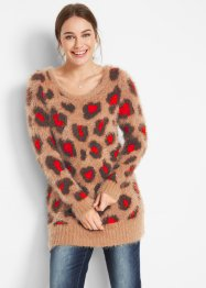 Long-Pullover mit Leomuster, bpc bonprix collection