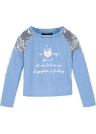Langarmshirt mit Pailletten, bpc bonprix collection