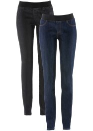 Lot de 2 leggings en jean confort-stretch, John Baner JEANSWEAR