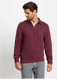 Sweat-shirt col polo zippé, bpc selection