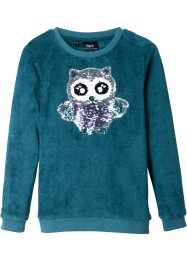 Teddy-Fleeceshirt mit Pailletten, bpc bonprix collection
