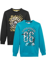 Lot de 2 sweat-shirts, bpc bonprix collection
