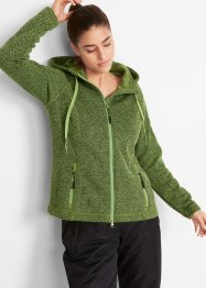 Strickfleece-Langjacke, bpc bonprix collection