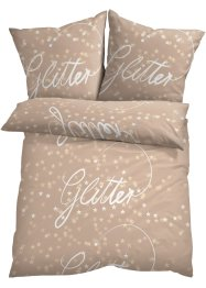 Bettwäsche mit Glitter Statement, bpc living bonprix collection