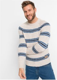 Pullover mit recycelter Baumwolle, John Baner JEANSWEAR