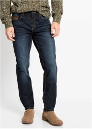 Slim Fit Stretch-Jeans mit Lederimitatdetails, Straight, John Baner JEANSWEAR
