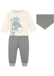 Shirt, Hose, Schal (3-tlg.Set), bpc bonprix collection