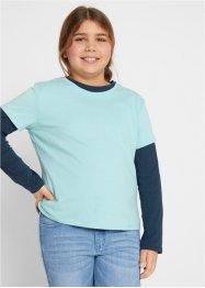 T-shirt + T-shirt manches longues fille (Ens. 2 pces.), extra large, bpc bonprix collection