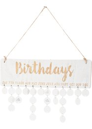 Calendrier anniversaire, bpc living bonprix collection