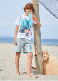 Jungen Shirt + Sweat Bermuda (2-tlg. Set), bpc bonprix collection