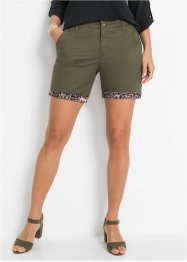 Short chino, application satin, BODYFLIRT boutique