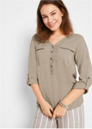 Blouse en viscose col V, manches longues, bpc bonprix collection