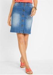 Jupe en jean durable, polyester recyclé, bpc bonprix collection