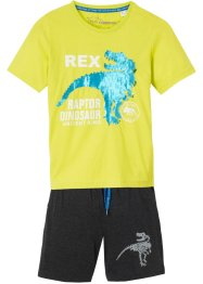 T-Shirt mit Wendepaillette + kurze Hose (2-tlg.Set), bpc bonprix collection