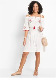 Cold-Shoulder-Kleid mit Stickerei, BODYFLIRT