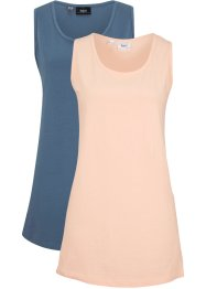 Lot de 2 tops longs basiques, bpc bonprix collection