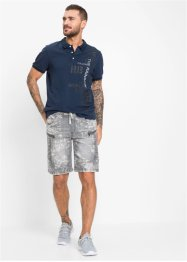 Bermuda en jean taille extensible Regular Fit, RAINBOW