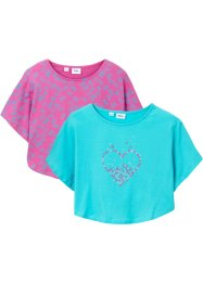 Lot de 2 T-shirts de plage fille, bpc bonprix collection