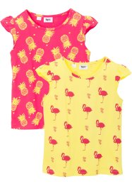 Lot de 2 T-shirts fille, bpc bonprix collection