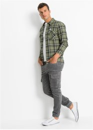 Flanell-Hemd, Slim Fit, RAINBOW