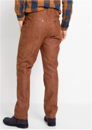 Regular Fit Lederimitat-Hose, Straight, John Baner JEANSWEAR