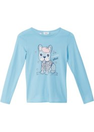 T-shirt manches longues fille en coton bio, bpc bonprix collection
