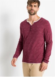 T-shirt col Henley style 2 en 1, bpc bonprix collection