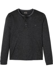 T-shirt col Henley, manches longues, bpc selection