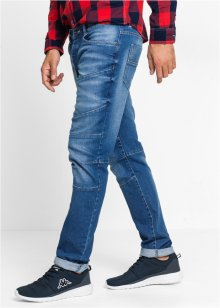 Stretch-Jeans SLIM, RAINBOW, medium blue bleached used