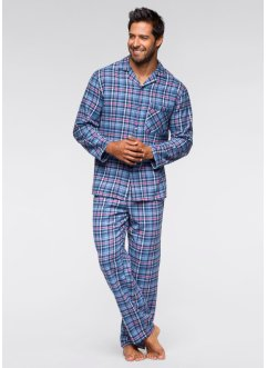 Flanell Pyjama in lockerer Passform, bpc bonprix collection