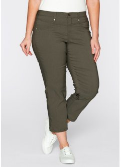 Pantalon extensible 7/8, bpc bonprix collection, olive foncé