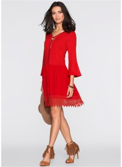 Boho-Kleid mit Applikation, BODYFLIRT, rot