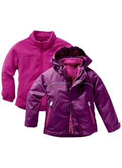 3-in-1 Funktionsjacke, bpc bonprix collection, veilchenlila/mittelfuchsia