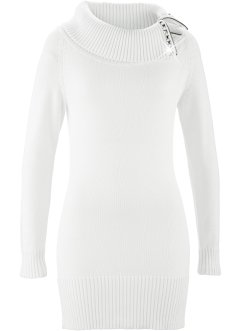 Long-Pullover, bpc selection, wollweiss