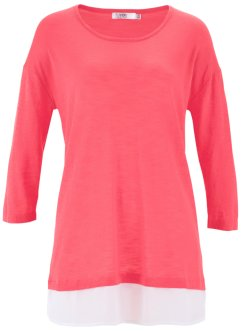 Pull 2en1 en fil flammé, bpc bonprix collection, fuchsia clair