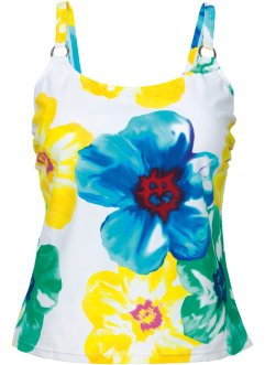 Haut de tankini, bpc bonprix collection, blanc imprimé