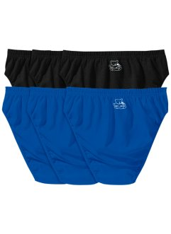 Slip (6er-Pack), bpc bonprix collection, schwarz/azurblau