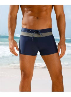 Herren Badehose, bpc bonprix collection, dunkelblau/grau